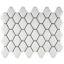 TPMG-07 3D White Diamond Porcelain Mosaic Tile -Kitchen and Bath Backsplash Wall and Floor Tile