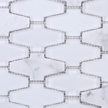 TCDNG-01 Irregular Shape Glass and Stone Mosaic Tile in White