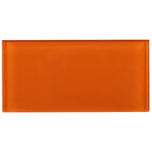 TCSAG-11 3x6 Orange glass subway tile -Kitchen and Bath Backsplash Wall Tile
