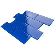 TCSAG-12 3x6 Electric Blue Glass Subway Tile -Kitchen and Bath Backsplash Wall Tile