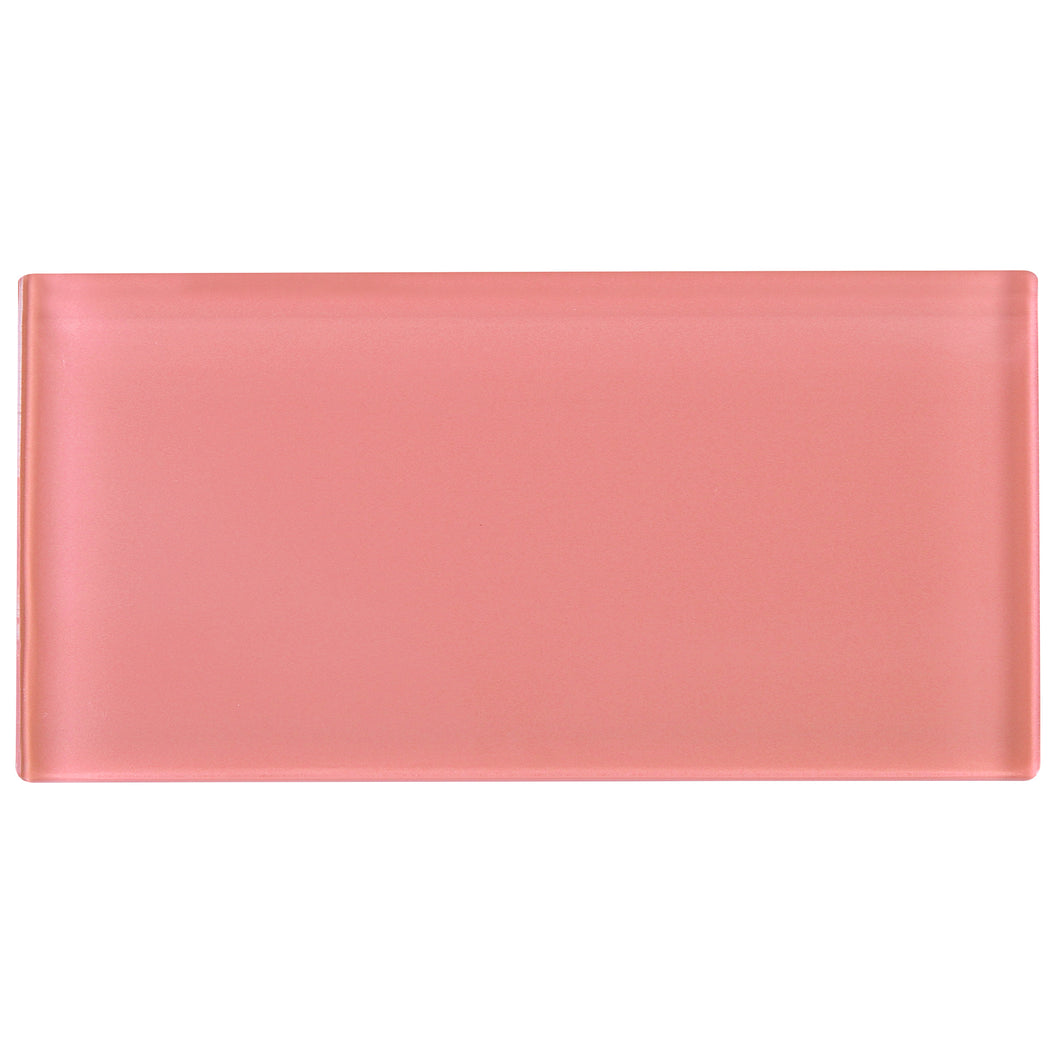 TCSAG-14 3x6 Pink Glass Subway Tile -Kitchen and Bath Backsplash Wall Tile
