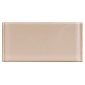 TCSAG-02 3x6 Beige glass subway tile -Kitchen and Bath Backsplash Wall Tile
