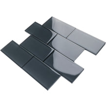 TCSAG-06 3x6 Dark Grey glass subway tile -Kitchen and Bath Backsplash Wall Tile