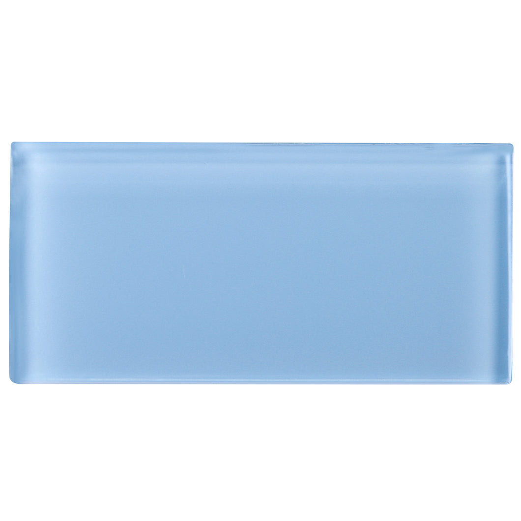 TCSAG-07 3x6 Baby blue glass subway tile -Kitchen and Bath Backsplash Wall Tile