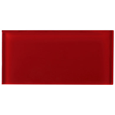 TCSAG-08 3x6 Red glass subway tile -Kitchen and Bath Backsplash Wall Tile