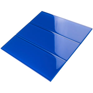 TCSBG-12 Electric Blue 4x12 Glass Subway Tile