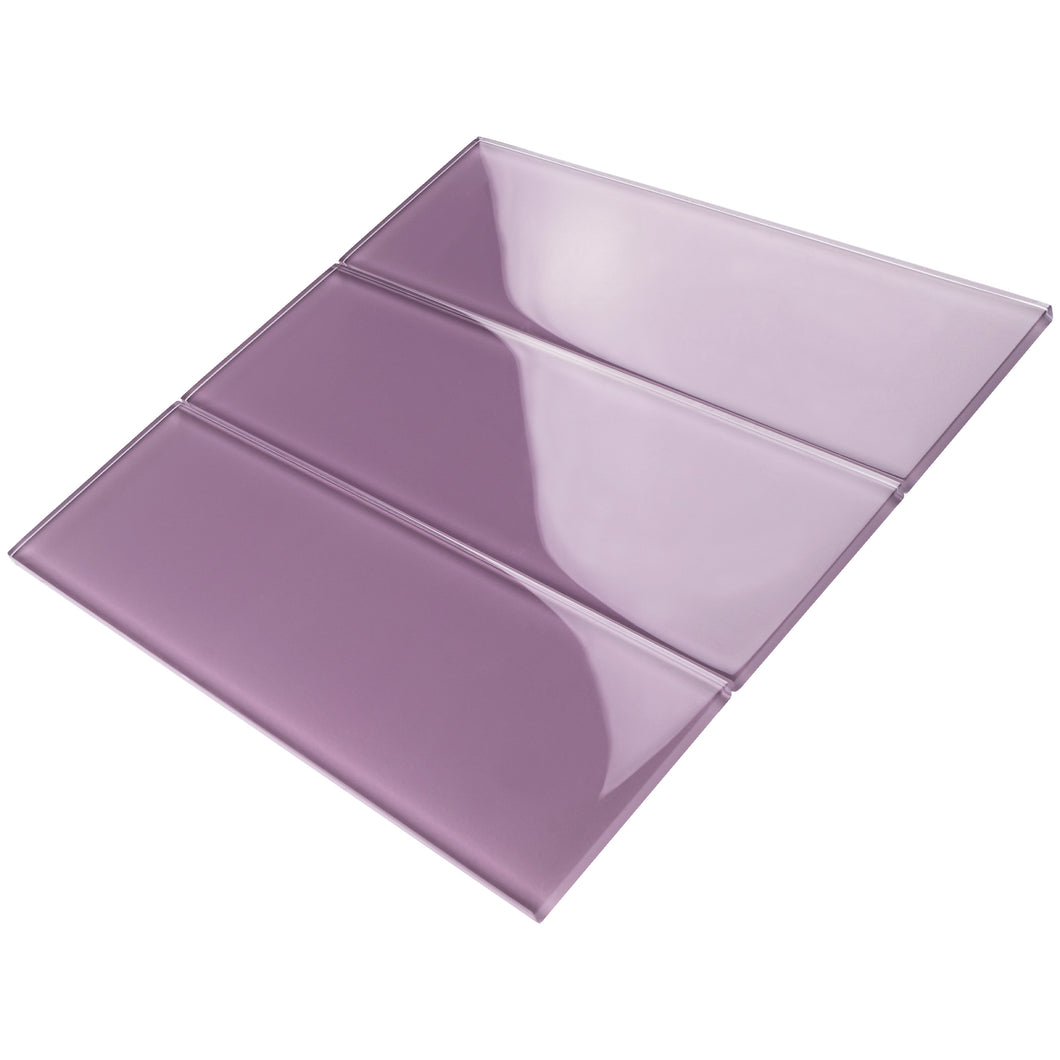 TCSBG-13 4x12 Purple Glass Subway Tile