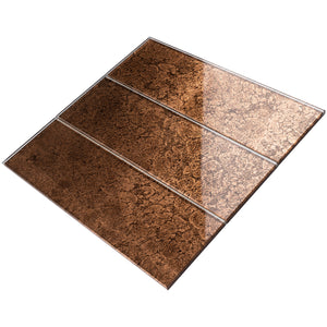 TCSBG-16 4x12 Brown Glass Subway Tile