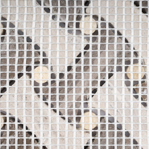 TCWEG-04 Cross Weave Marble Stone Mosaic Tile in Wooden Grey