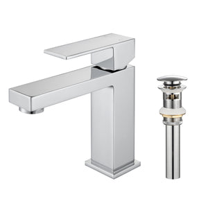 F6001-01 Luende Modern Single-Handle Bathroom Faucet (chrome)