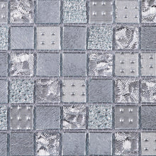 TGEMG-01 1x1 Square Silver Glass Mosaic Tile Sheet