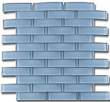 THIG-12 Blue Bridge Arched 3D Glass Mosaic tile Backsplash Wall Tile