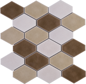Brown diamond mosaic tile porcelain handmade mosaic tile