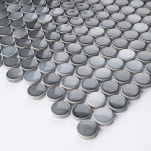 JAPM302 Multi Grey mix color polished tiny hexagon porcelain mosaic tile