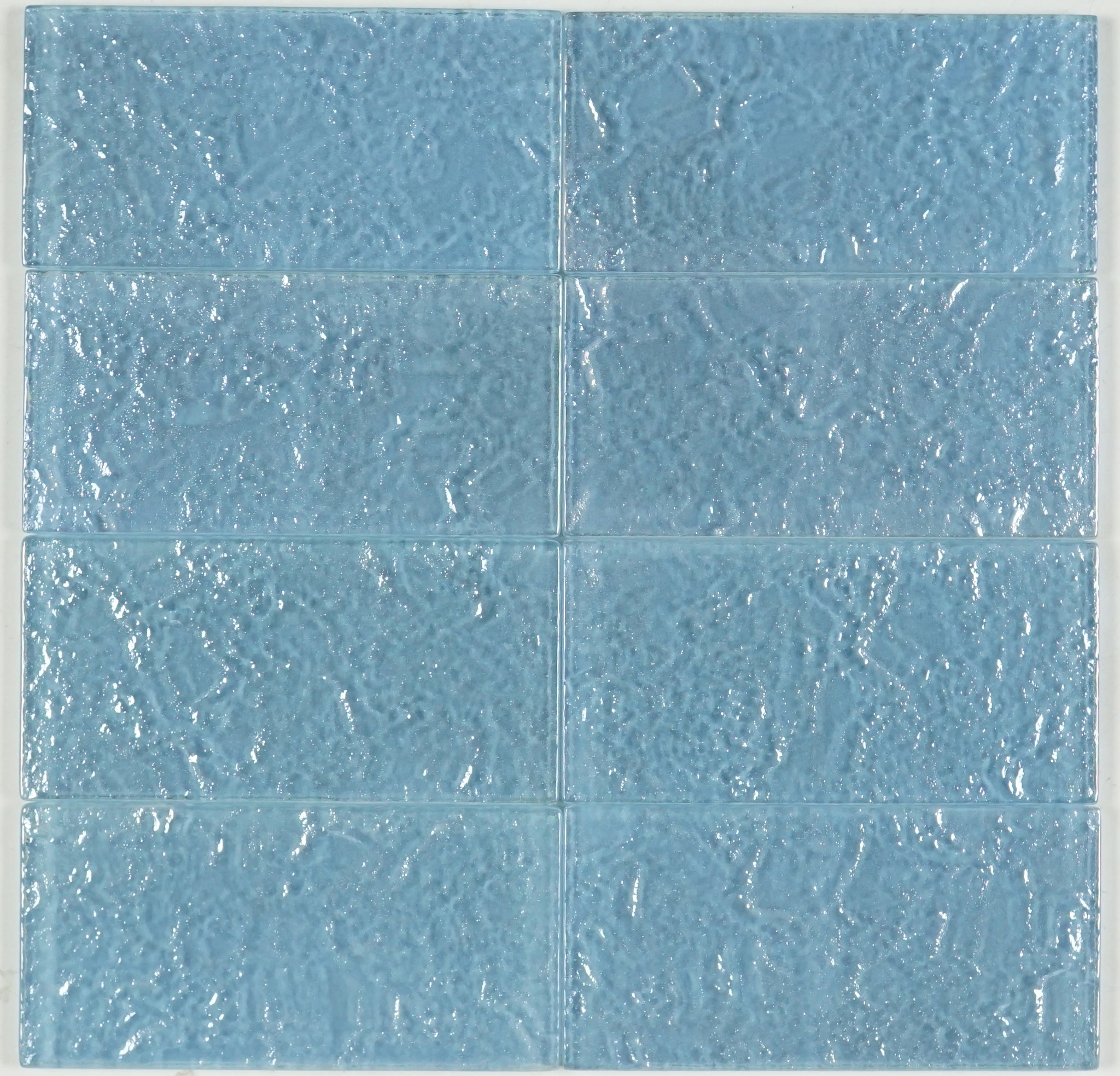 THEG-18 Blue 2x4 Subway Tile Glass Mosaic Backsplash Wall Tile ...