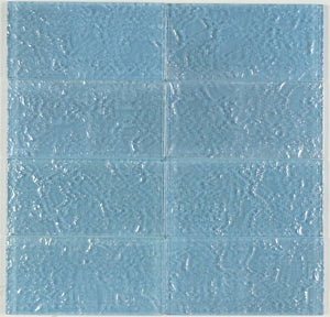 THEG-18 Blue 2x4 Subway Tile Glass Mosaic Backsplash Wall Tile