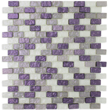 purple brick glass mosaic tile backsplash wall tile