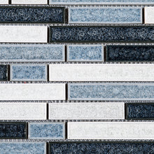 TPCG-01 Roman Art Blue Small Brick Crashed Glass Mosaic Tile