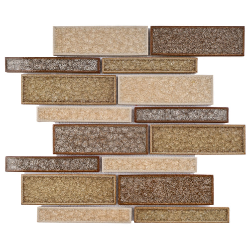 TRPCG-08 Roman Art Sand Pocker Large Crashed Brick Glass Mosaic Tile