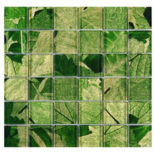 TSLG-02 2x2 Green glass mosaic tile backsplash for kitchen and bath