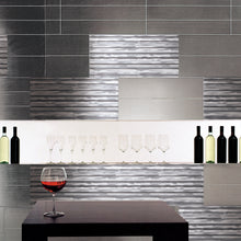 TAFDG-02 Grey Thin Straight Liner Aluminum Mosaic Tile Kitchen and Bath Backsplash Wall Tile