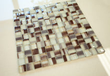 brown backsplash glass tile