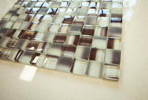 Brown glass tile