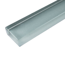 "THCG-09 Light grey glass pencil liner trim wall tile 1""x12"", 1/2""x12"""
