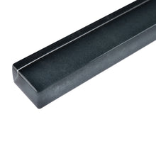 "THCG-10 Dark grey glass pencil liner trim wall tile 1""x12"", 1/2""x12"""