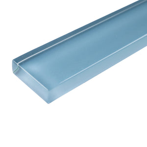 "THCG-12 Baby Blue glass pencil liner trim wall tile 1""x12"", 1/2""x12"""