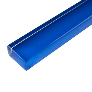"TCLING-12 Electric Blue Glass Pencil Liner Trim Wall Tile Border 1""x12"", 1/2""x12"""