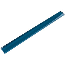 "TCLING-15 Turquoise Glass Pencil Liner Trim Wall Tile Border 1""x12"", 1/2""x12"" TILE GENERATION"