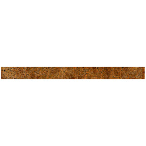 "TCLING-16 Amber Brown Glass Pencil Liner Trim Wall Tile Border 1""x12"", 1/2""x12"" TILE GENERATION"