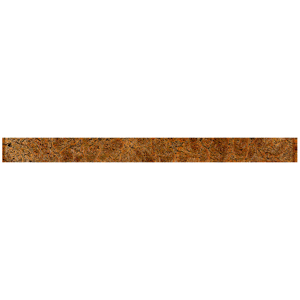TCLING-16 Amber Brown Glass Pencil Liner Trim Wall Tile Border 1