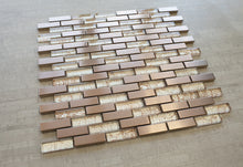 Copper bronze mosaic backsplash tile