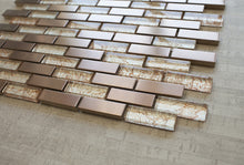 TDSG-08 Copper Galaxy Glass and Stainless Steel Mosaic Tile