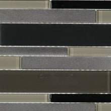 Grey glass aluminum mosaic tile