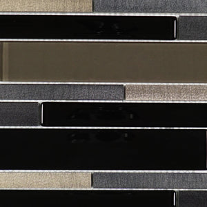 TFCG-07 Z shape glass mosaic tile in grey