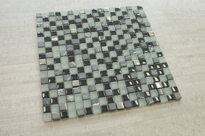 TFG-05 Square Penny Tile Glass Mosaic Tile in Grey