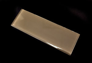 Brown glass subway tile 4x12