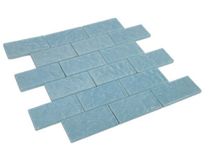 2x4 blue glass subway tile mosaic sheet kitchen and bath backsplash wall tile - tile generation