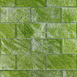 fresh green 2x4 glass mosaic subway tile backplash glass tile for kitchen and bath