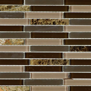 TOG-03 Chocolate truffle glass mosaic tile backsplash