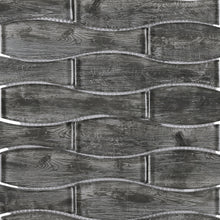 TTRKG-02 Grey Vase Shape Glass Mosaic Tile Sheet