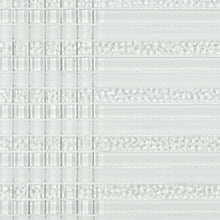 TVG-01 Crystile Clear linear Pencil Glass Mosaic Tile in White