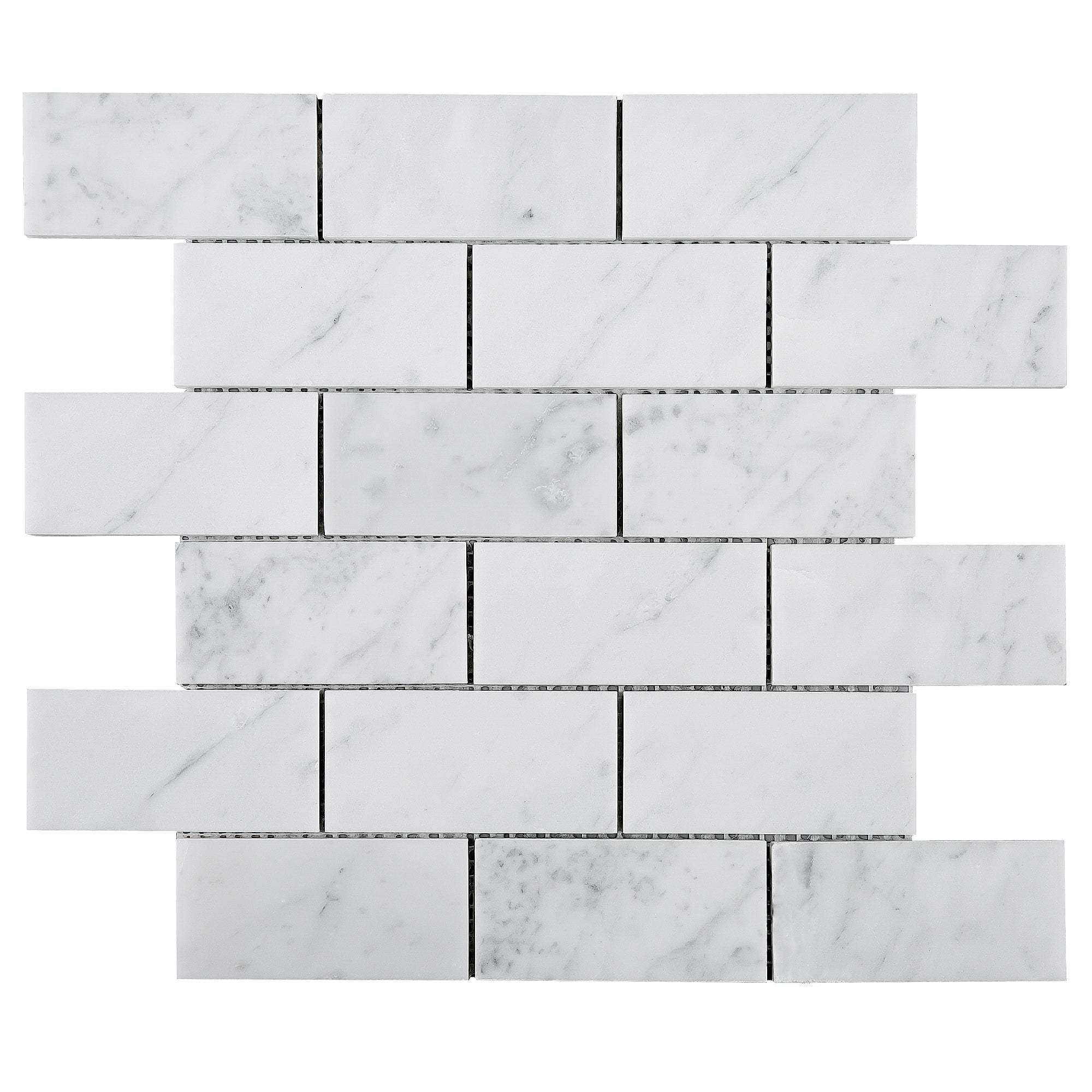 Twhcag 01 2x4 White Carrara Marble Mosaic Tile Backsplash Tile Generation