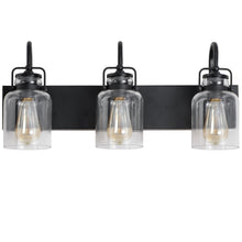 WL0004-3-01 3 Light Dimmable LED Vanity Light Modern Wall Sconces (Black)