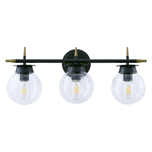 WL0007-3-01 3 Light Dimmable LED Vanity Light Modern Wall Sconces (black)