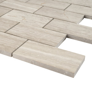 TWOBEG-01 2x4 Wooden Beige Brick Subway Tile Mosaic Sheet