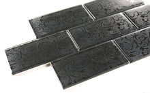 black decor subway tile 3x6 (8pcs)